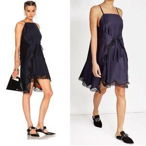 Alexander Wang Pinstripe A-line Apron Dress
